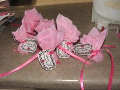Homemade soaps for the treat bags...TONISHAS PARTY
