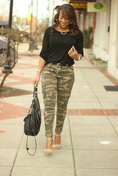 Camouflage fashion - Urbanog heels~H&M purse~Manhattan top~Random accessories Hi everyone and happy Tuesday Today I'm sh Camo Pants Outfit, Camo Outfits, Mode Outfits, Casual Outfits, Camo Dress, Shirt Outfit, Camouflage Fashion, Camo Fashion, Fashion Outfits