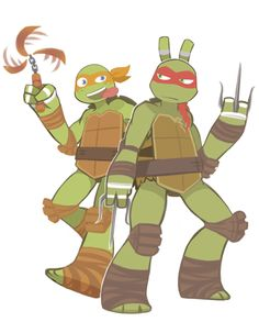 Raph and Mikey :)  Teenage Mutant Ninja Turtles TMNT