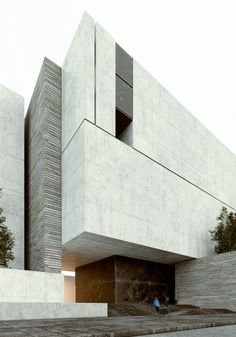 modern minimalist architecture for residences Architecture Design, Concrete Architecture, Minimal Architecture, Residential Architecture, Amazing Architecture, Contemporary Architecture, Concrete Facade, Contemporary Design, Stone Facade
