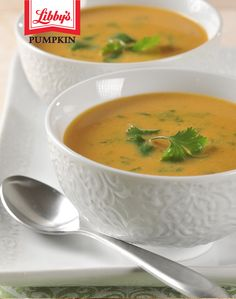 Soup recipes like this Thai-style pumpkin soup show off the versatility of delicious pumpkin flavor. Get spicy tonight.