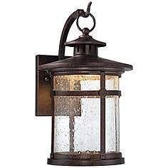 "Callaway Rustic Bronze 11"" High LED Outdoor Wall Light"