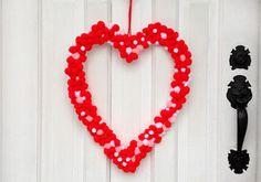Pom-Pom Love Wreath