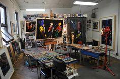 Barbara Rachko's NYC studio #artspace #studio