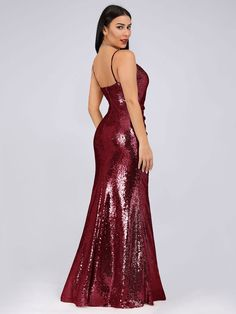 b3c595bea4cc Sexy Sequin Evening Gown | Ever-Pretty #eveningdress #eveningdresses # EverPretty #sequindress