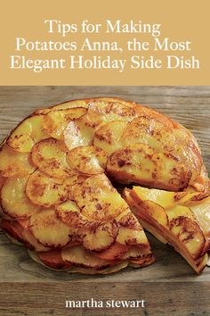 5 Tips for Making Potatoes Anna, the Most Elegant Holiday Side Dish - A step-by-step guide to the French classic pommes Anna — one of Martha's favorite potato dishes - Holiday Side Dishes, Christmas Dishes, French Side Dishes, Potato Side Dishes, Vegetable Side Dishes, Side Dish Recipes, Vegetable Recipes, Veggie Food, Potato Recipes