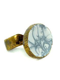 small oval ring Oval Rings, Handmade Rings, Gemstone Rings, Rings For Men, Enamel, Black And White, Jewelry, Men Rings, Vitreous Enamel