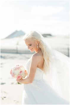Hannah Bjorndal photographs a fairytale seaside wedding with soft, romantic details at Rehoboth Beach on Saturday, October 7, 2017. Florals by Little Miss Lovely.