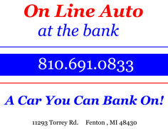 ONLINE AUTO AT THE BANK!! COME SEE US TODAY!