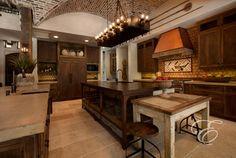 Tuscan Farmhouse - mediterranean - kitchen - houston - Eklektik Interiors