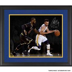 "Stephen Curry Golden State Warriors Fanatics Authentic Framed Autographed 16"" x 20"" 2017 NBA Finals Champions Action Shot Photograph with ""17 NBA Champs"" Inscription"