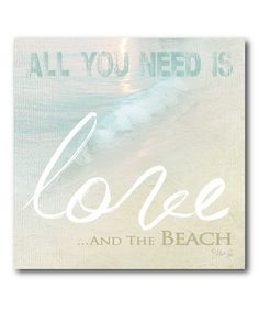 This 'All You Need' Wall Art by COURTSIDE MARKET is perfect! #zulilyfinds
