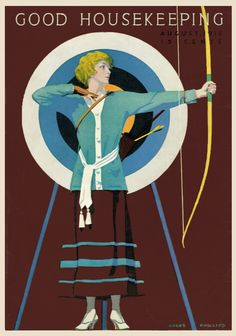 Coles Phillips - Good Housekeeping Magazine cover (August 1916) Fadeaway girl