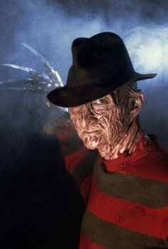 Freddy Krueger...watched all his movies but I still think the 1st movie & the last were the Best Freddy Krueger, Best Horror Movies, Horror Movie Characters, Scary Movies, Horror Films, Horror Icons, Halloween Horror, Halloween Movies, Halloween Icons