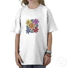 Awesome Floral Art Tee Shirt #flowers #daisies #art #abstract #original #shirts #gifts #zazzle #petspower
