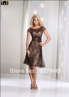 New Style short lace a line knee length organza mother of the bride dresses-in Mother of the Bride Dresses from Apparel & Accessories on Aliexpress.com $106.66