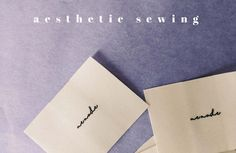 aesthetic sewing movement- new era of DIY by tintofmint High Street Shops, Sewing, Diy, Do It Yourself, Couture, Bricolage, Sew, Handyman Projects, Stitching