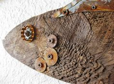 Reclaimed Barn Wood and Salvaged Metal Found by PhloxRiverStudio
