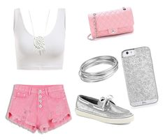 """It is super hot in here"" by cece-15 ❤ liked on Polyvore featuring Sperry Top-Sider, Chanel and Worthington"