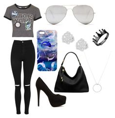 """""""j"""" by im96bis on Polyvore featuring Topshop, Nly Shoes, Nikki Strange, Sunny Rebel, Nadri, Roberto Coin and Michael Kors"""