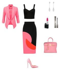 StyledbyS by sforstylebys on Polyvore featuring polyvore fashion style Forever New LE3NO Roksanda Ilincic Christian Louboutin Hermès Burberry clothing