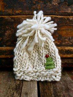 Holiday GiftChristmas Infant HatKnit Baby by NaturallyUnraveled, $32.00