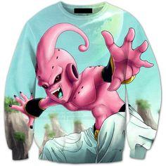 Majin Kid Buu Creature Streetwear Trendy 3D Full Print Sweatshirt