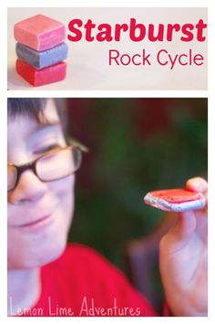 Starburst Rock Cycle for Kids: Easy, Fun and Yummy! --> SO FUN. I am definitely doing this over the weekend!