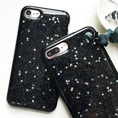High quality Fashion Glitter Starry Sky Phone Case For iphone 7 6 6S Plus Luxury Soft Back Cover