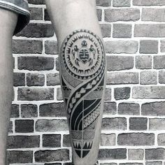 Back Of Leg Turtle Maori Culture Art Tattoo On Gentleman
