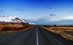 """Icelandic Road"" -- #wallpaper by ""Nitrogliserin"" from http://interfacelift.com -- Shot this photo last February near Skaftafell, Iceland. All roads in Iceland are so tempting that they want to make you a free wanderer.  Adobe Photoshop. -- Available as #wallpapers in any resolution at: http://interfacelift.com/wallpaper/details/3711/icelandic_road.html"