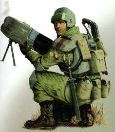 Имперский гвардеец с плазменной винтовкой