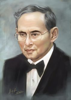 King of Thailand  His Majesty King Bhumibol Adulyadej the Great on Sub . It is the ninth king of the Chakri Dynasty . Ascended to the throne As the monarch who reigned the longest in the world where the rights of the living . And longest in