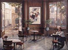 I'd consider this mural for my house. Café Romantique