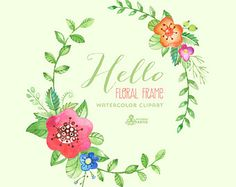 Watercolour Flowers Bouquets Digital Clipart. Hand by OctopusArtis