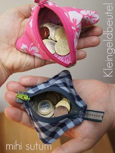 petit sac à langer pratique - Nähideen - # Nähideen - Coiffures Diy Sewing Projects, Sewing Projects For Beginners, Sewing Hacks, Sewing Tutorials, Sewing Tips, Tutorial Diy, Wallet Tutorial, Diy Wallet, Small Handbags
