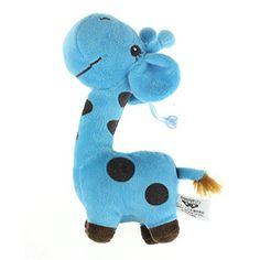 Amlaiworld Girafe cher peluche peluche poupées animaux bébé Kid anniversaire cadeau fête (Bleu)