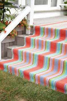#DashAndAlbert Garden Stripe Woven Cotton Rug