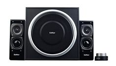 Edifier USA S330D 2.1 Speaker System (Black)   This high-powered 2.1 audio system is suitable for a variety of multimedia applications. With a wooden enclosure, the 2 way satellites and 61/2 inch subwoofer produce 72 watts of awesome power. The wired remote and 3.5mm stereo jack allows for ease of control and connectivity to all audio hosts.