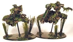 Dark Future Games: It Came From the Forums: Swamp Necrons and Renegade Kroot from Marco Schulze! Warhammer 40k, Necron Army, Swamp Theme, The Grim, Mini Paintings, Fantasy Character Design, Color Themes, Fantasy Characters, Painting Inspiration