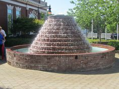 Brick fountain in downtown Douglasville, at O'Neal Plaza Douglasville Georgia, Villa Rica, Small Fountains, Douglas County, Atlanta Homes, Home Inspection, Professional Services, Travel Bugs, Counseling