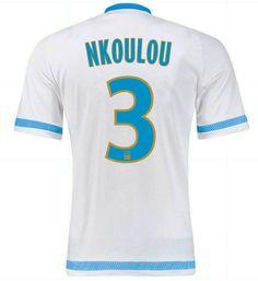 Maillot de foot Marseille Domicile 2015/2016 (3 Nkoulou) Blanc