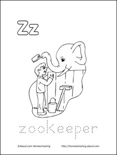 zookeeper coloring pages - photo#41