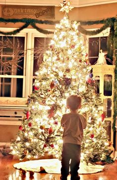 Imagine what it would be like to be a little kid again and the magic of Christmas morning.