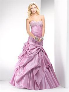 Ball Gown Beaded sweetheart ruched flare taffeta purple prom dress PD10318 www.dresseshouse.co.uk $125.0000