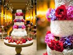 Pink and red and purple for wedding colors