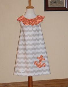 Ocean Waves Flutter Sleeve Dress Size 18 by designsbylindakay, $29.99