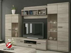 modular furniture for the home - bookcase ideas, bookcase design, bookcase clipart Tv Wall Cabinets, Living Room Cabinets, Display Cabinets, Tv Unit Decor, Tv Wall Decor, Tv Cabinet Design, Tv Wall Design, Tv Unit Furniture, Modular Furniture