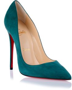 Christian Louboutin So Kate 120 green suede pump