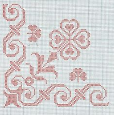 Folk motifs for embroidery or crochet These motifs were once used for mooring small crosses on a cotton canvas or crochet. Cross Stitch Borders, Cross Stitch Rose, Cross Stitch Flowers, Cross Stitch Designs, Cross Stitching, Cross Stitch Embroidery, Cross Stitch Patterns, Hand Embroidery Patterns, Crochet Patterns